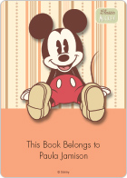 Classic Mickey Book Plate Labels