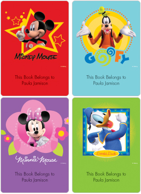 Mickey & Friends Fun-tastic Book Plate Labels