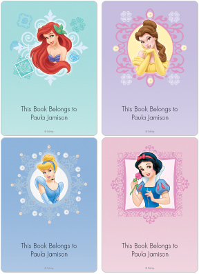 Princess Book Plate Labels