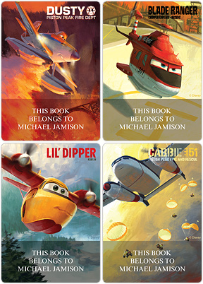Planes: Fire & Rescue Book Plate Labels