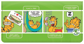 Garfield Green Fabric Cover