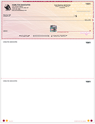 High Security Laser Voucher Check on Top - Burgundy Safety