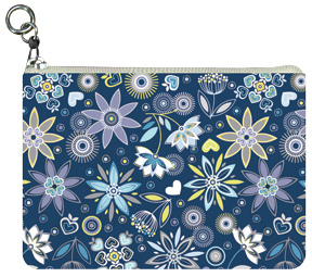 Night Water Flowers Coin Purse