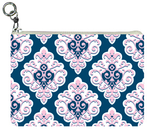 Preppy Sweet Damask Coin Purse