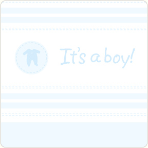 It's A Boy - Layette Coasters