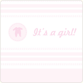 It's A Girl - Layette Coasters
