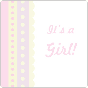 It's A Girl - Scallop Coasters