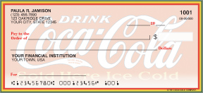 Coca-Cola Retro Signs Personal Checks