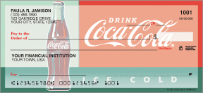 Coca-Cola Heritage Personal Checks - 4 retro images