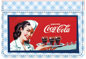 Coca-Cola Blue Checked Debit Caddy