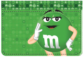Green M&M'S Debit Caddy