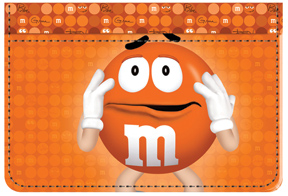 Orange M&M'S Debit Caddy