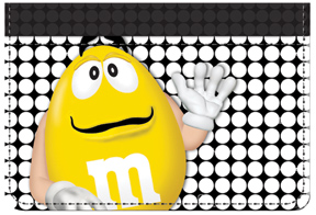 Yellow M&M'S Debit Caddy
