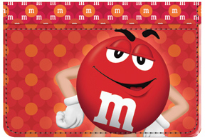 Red M&M'S Debit Caddy
