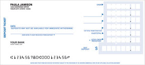 Deposit Tickets - 1 part