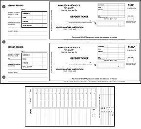 2 Per Page Deposit Ticket