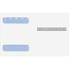 Self Seal Dbl Win Envelope for 4-Up Horizontal W-2