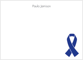 Blue Ribbon Awareness Flat Cards