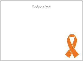 Orange Ribbon Awareness Flat Cards