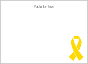 Yellow Ribbon Awareness Flat Cards