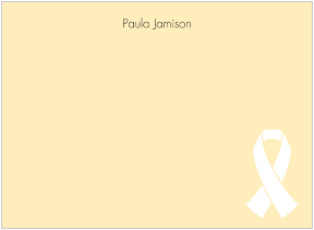 White Ribbon Awareness Flat Cards