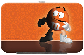 Orange M&M'S Credit Card/ID Holder