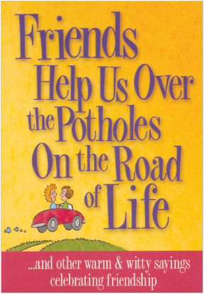 Friends Help Us Over Potholes Book