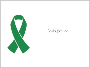 Green Ribbon Awareness Folded Notes