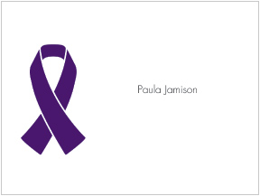 Purple Ribbon Awareness Folded Notes