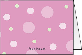 Pink Dots Folded Notes