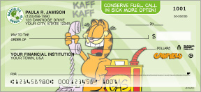 Garfield Green Personal Checks - 4 images