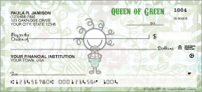 Smirk Green Personal Checks - 4 images