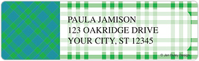 Preppy Plaid Sheet Labels