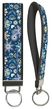 Night Water Flowers Wristlet