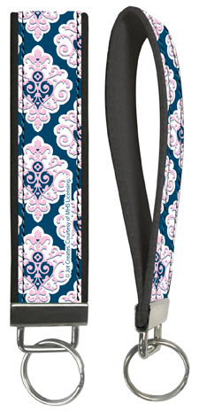 Preppy Sweet Damask Wristlet