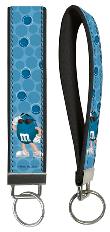 Blue M&M'S Key Wristlet