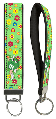 Green M&M'S Key Wristlet