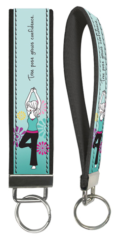 Tree Pose Key Wristlet
