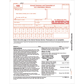 1096 Annual Summary & Transmittal Cut Sheet