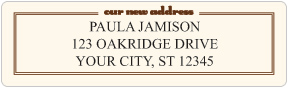 New Address Moving Labels