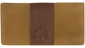 Antique Embossed Brown Leather Cover