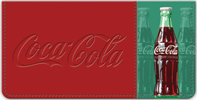 Coca-Cola Heritage Coke Bottle Checkbook Cover