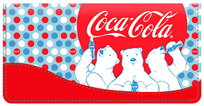 Coca-Cola Polar Bears Leather Cover