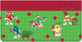 M & M's Holiday Checkbook Cover