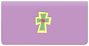 Cross Leather Cover - Purple