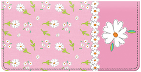 Flirty Floral Pink Leather Cover