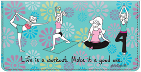 Yoga by philoSophies Checkbook Cover