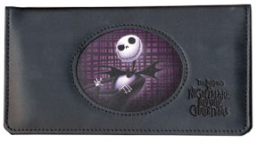 Jack Skellington Leather Checkbook Cover
