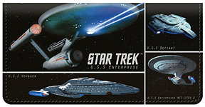 Star Trek Ships Leather Cover
