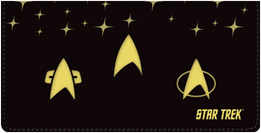 Star Trek Badges Leather Cover